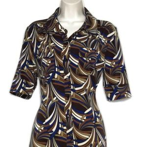 Harve Benard 60s Inspired Print Shirt Dress 10